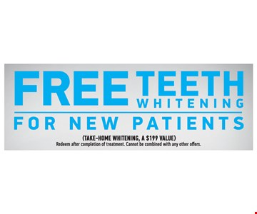 Free Teeth Whitening For New Patients