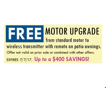 Free motor upgrade