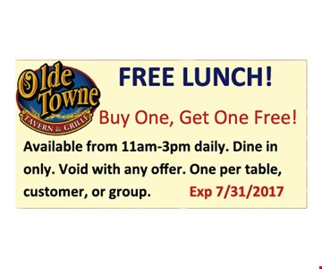 Free Lunch! buy one, get one free