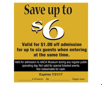 Save up to $6