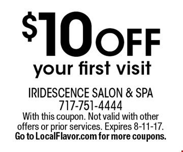 $10 off your first visit. With this coupon. Not valid with other offers or prior services. Expires 8-11-17. Go to LocalFlavor.com for more coupons.