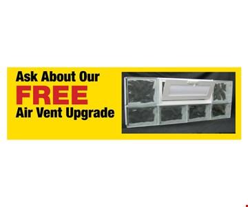 Free air vent upgrade