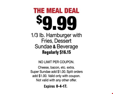 $9.99 The Meal Deal