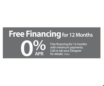Free Financing For 12 Months