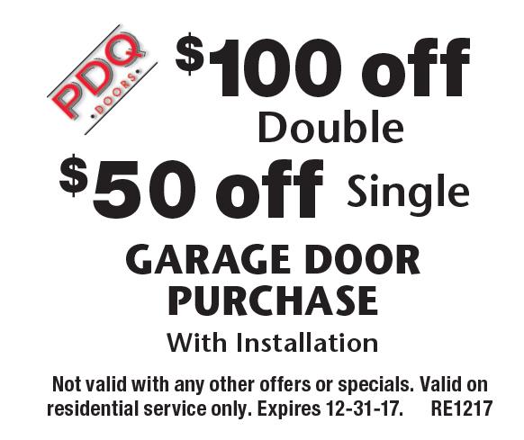 PDQ DOORS $50 off Single GARAGE DOORPURCHASEWith Installation. $100 off Double GARAGE DOORPURCHASEWith Installation  sc 1 st  Local Flavor & LocalFlavor.com - PDQ DOORS Coupons pezcame.com
