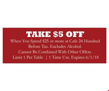 Take $5 off