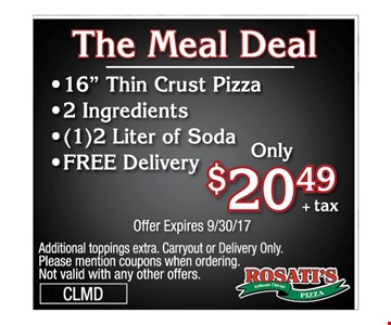 the meal deal  $20.49