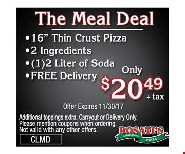 The Meal Deal for $20.49