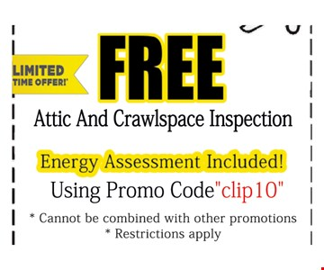 Free Attic And Crawl Space Inspection