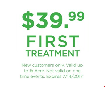 $39.99 First Treatment. New customers only.