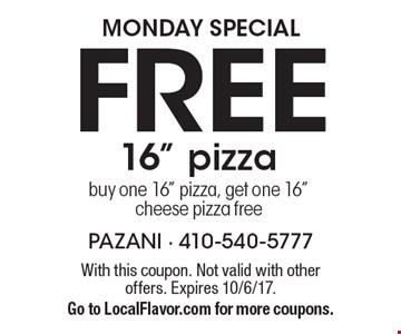 Monday Special FREE 16