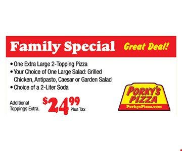 Family Special $24.99