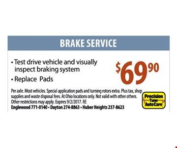$69.90 brake service