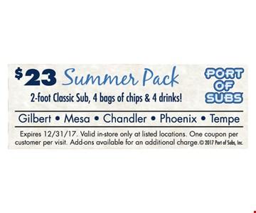$23 Summer Pack