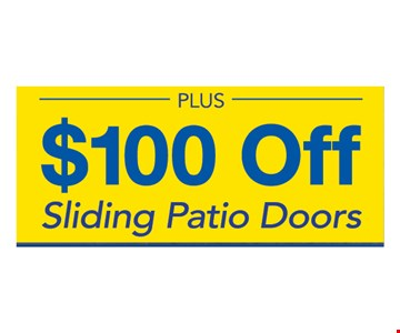 $100 Off Sliding Patio Doors