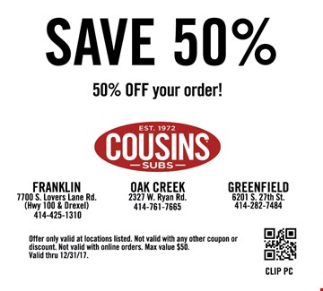 Cousins subs coupons printable