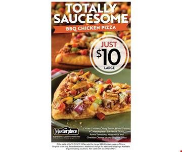 $10 large bbq chicken pizza