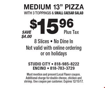 $15.96 Plus Tax. Medium 13