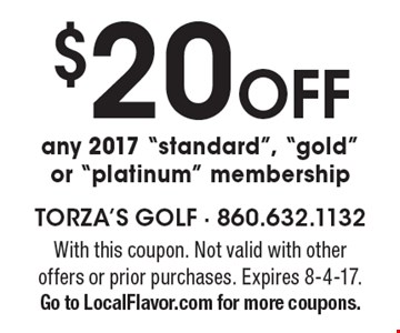 $20 Off any 2017