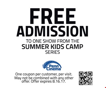Free Admission To One Show From The Summer Kids Camp Series