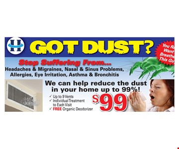 Got Dust? $99