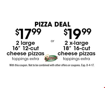 pizza deal $19.992 x-large 18