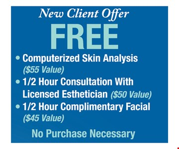 New client offer Free computerized skin analysis