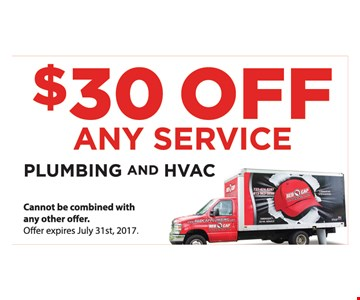 $30 Off Any Service