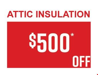 $500 OFF Attic Insulation