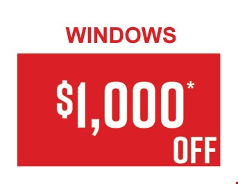 $1,000 OFF Windows