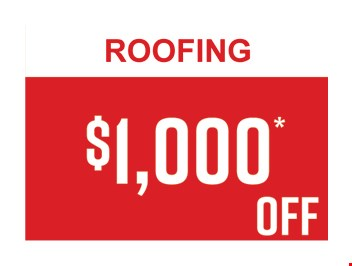 $1,000 OFF Roofing