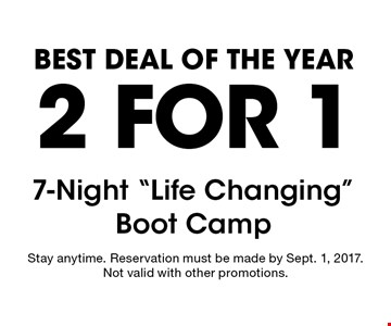 Best Deal Of The Year 2 For 1 7-Night