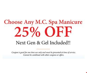 Spa manicure 25% Off
