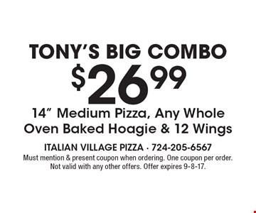 Tony's Big Combo - $26.99 14