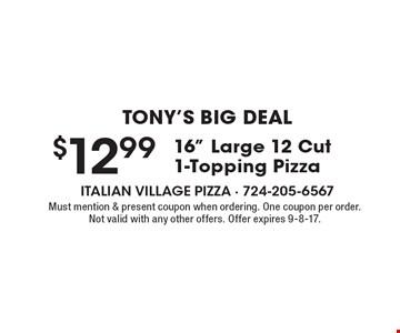 Tony's Big Deal $12.99 16