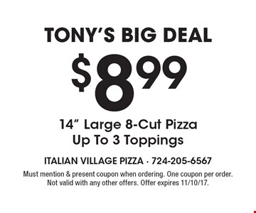 Tony's Big Deal $8.99 14
