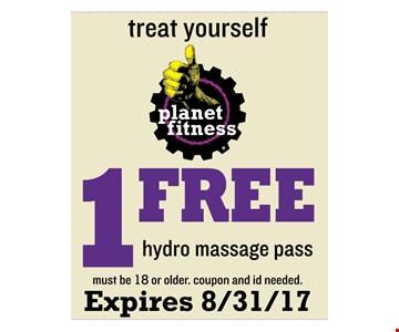 1 free hydro massage pass