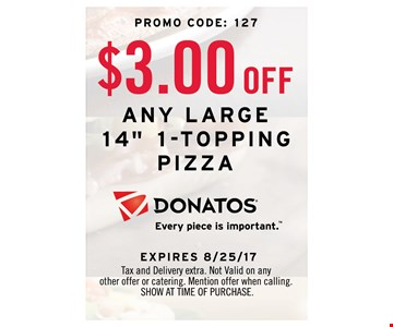 $3.00 OFF any large 14