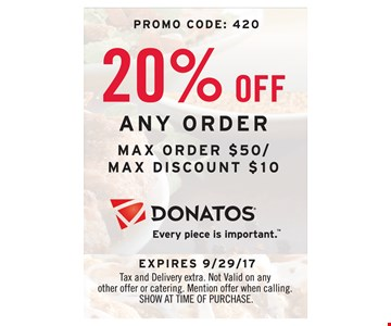 20% Off Any Order