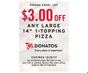 $3 off any large 14