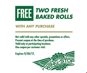 Free Two Fresh Baked Rolls