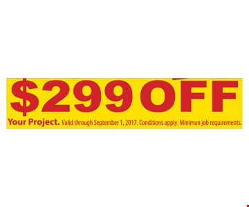 $299 off your project