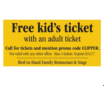 Free Kid's Ticket
