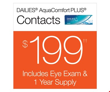 Dailies AquaComfort Plus Contacts $199