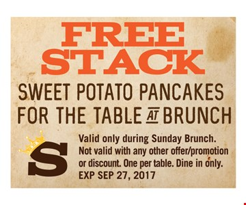 Free Stack Sweet Potato Pancakes For the Table at Brunch