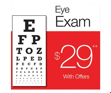 $29 eye exam. With offers.