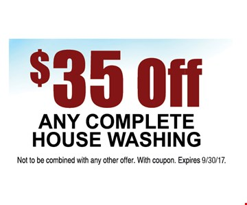 $35 off any complete house washing