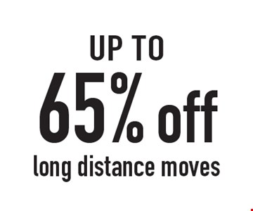65% off long distance moves