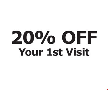 20% OFF Your 1st Visit.