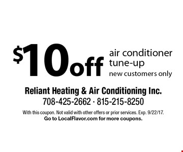 $10 off air conditioner tune-up